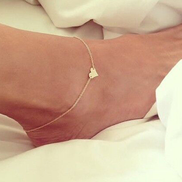 Heart of Gold Anklet