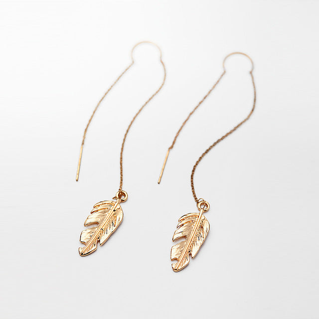 Gold Leaf Boho Earrings