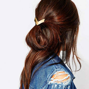Gold V Boho Hairband