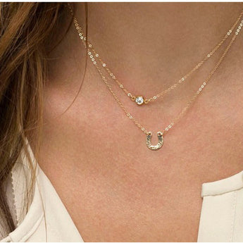 Double Layered Horseshoe Necklace