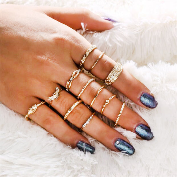 Knuckle Party Boho Ring Set
