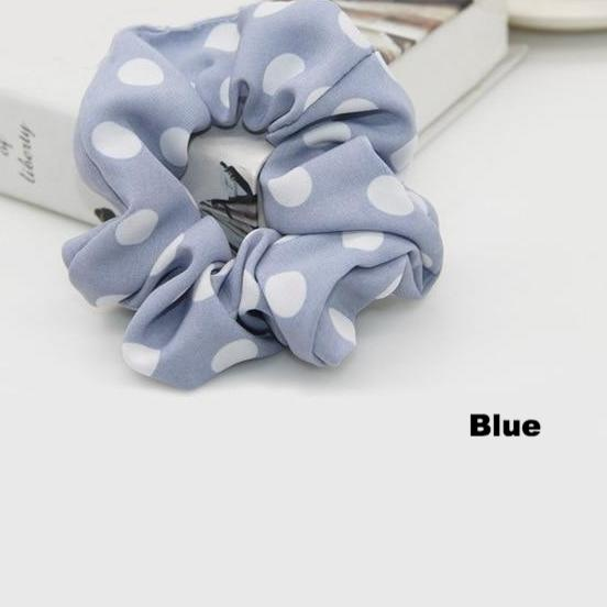 Polka Dot Hair Scrunchie