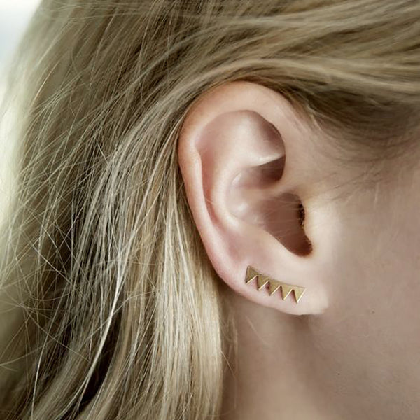 Sequin Triangle Ear Climber