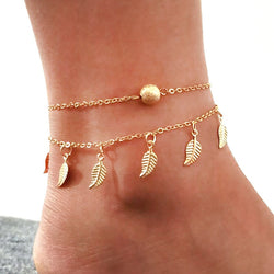 Autumn Leaf Boho Anklet