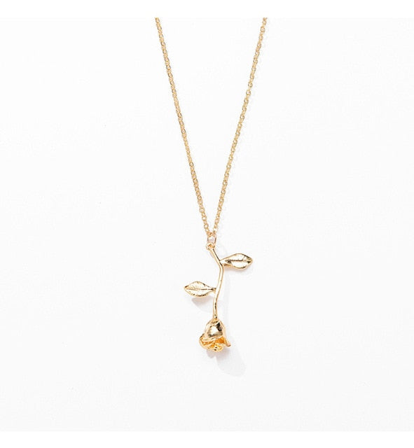 English Rose Flower Necklace