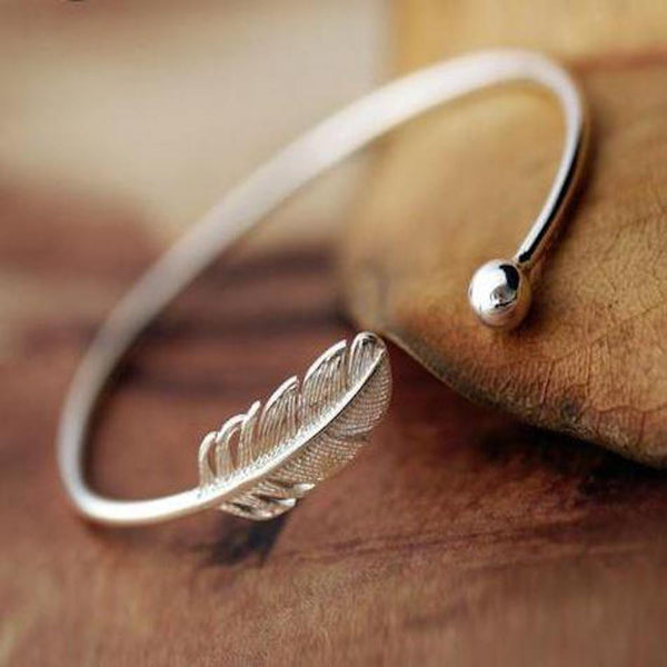 Secret Garden Sterling Silver Leaf Bracelet