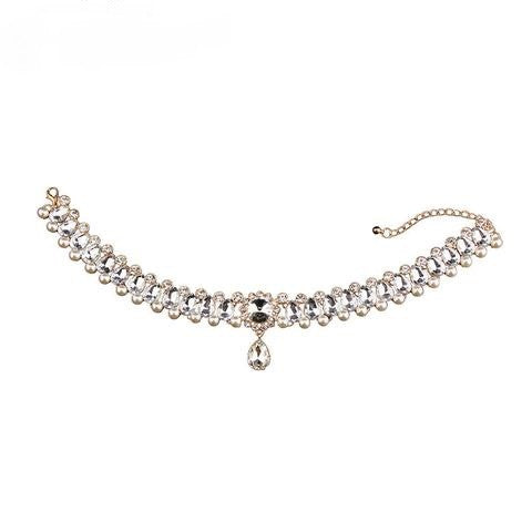 Chancery Crystal Bead Choker Necklace