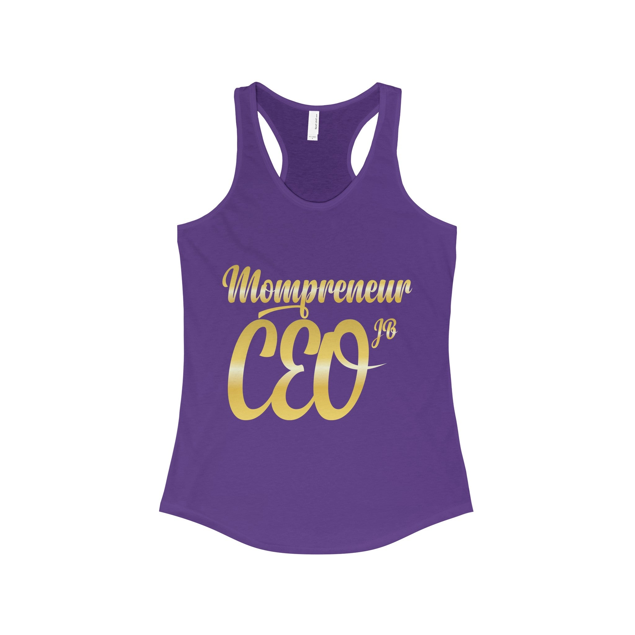 Mompreneur GOLD EDITION Racerback Tank