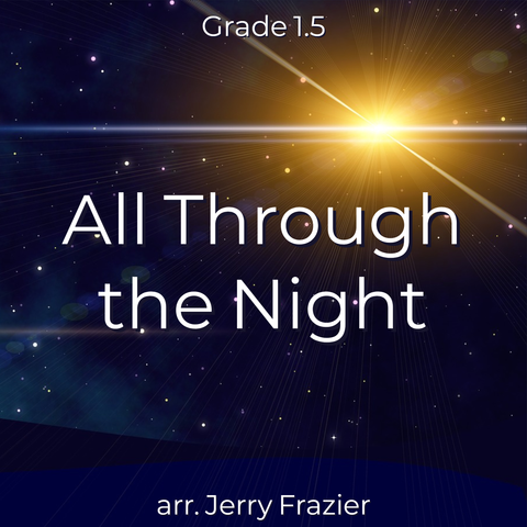 'All Through the Night' by Jerry Frazier. Holiday Music sheet music for school bands