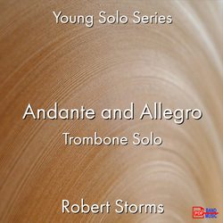 'Andante and Allegro' by Robert Storms. Ensemble - Brass sheet music for school bands