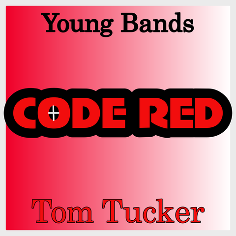 """Code Red"" - composed by Tom Tucker,  Performance Level = Grade 2.  Band sheet music downloadable instantly in PDF format.  Cost = $ 24."