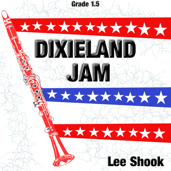 """Dixieland Jam"" - composed by Lee Shook,  Performance Level = Grade 1.  Band sheet music downloadable instantly in PDF format.  Cost = $ 24."