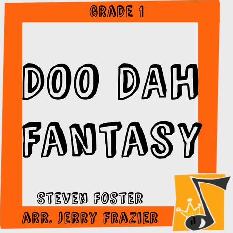 'Doo Dah' by Jerry Frazier. Beginning Band sheet music for school bands