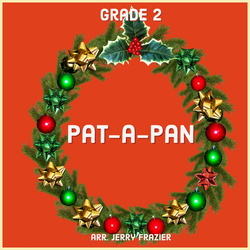 'Pat-a-Pan' by Jerry Frazier. Holiday Music sheet music for school bands