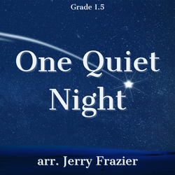 'One Quiet Night' by Jerry Frazier. Holiday Music sheet music for school bands