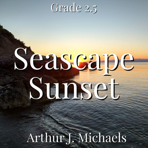 Seascape Sunset by Arthur Michaels