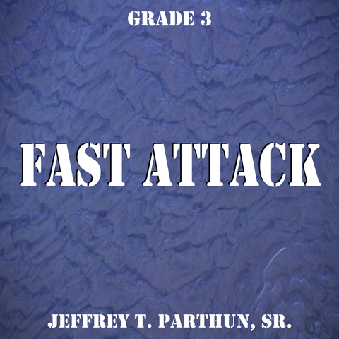 """Fast Attack"" - composed by Jeffrey Parthun,  Performance Level = Grade 3.  Band sheet music downloadable instantly in PDF format.  Cost = $ 24."