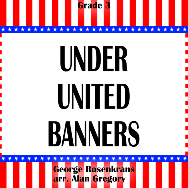 'Under United Banners' by Alan Gregory. Grade 3 sheet music for school bands