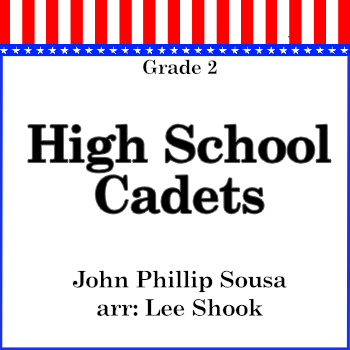 'High School Cadets' by Lee Shook. Grade 2 sheet music for school bands