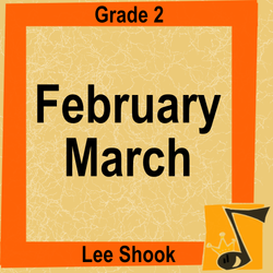 'February March' by Lee Shook. Grade 2 sheet music for school bands