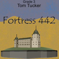 """Fortress 442"" - composed by Tom Tucker,  Performance Level = Grade 3.  Band sheet music downloadable instantly in PDF format.  Cost = $ 24."