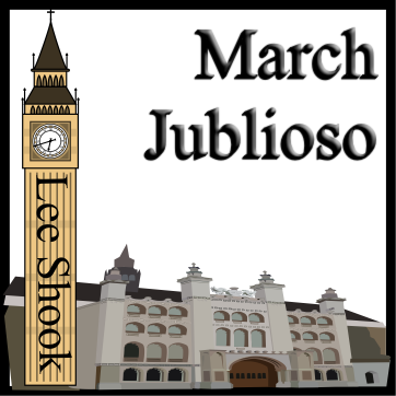 'March Jubiloso' by Lee Shook. Grade 1 sheet music for school bands
