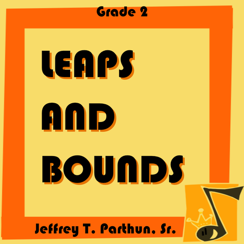 """Leaps and Bounds"" - composed by Jeffrey Parthun,  Performance Level = Grade 2.  Band sheet music downloadable instantly in PDF format.  Cost = $ 24."