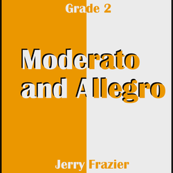 """Moderato and Allegro"" - composed by Jerry Frazier,  Performance Level = Grade 2.  Band sheet music downloadable instantly in PDF format.  Cost = $ 24."