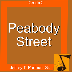 'Peabody Street' by Jeffrey Parthun. Grade 2 sheet music for school bands