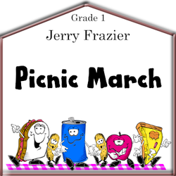 'Picnic March' by Jerry Frazier. Grade 1 sheet music for school bands