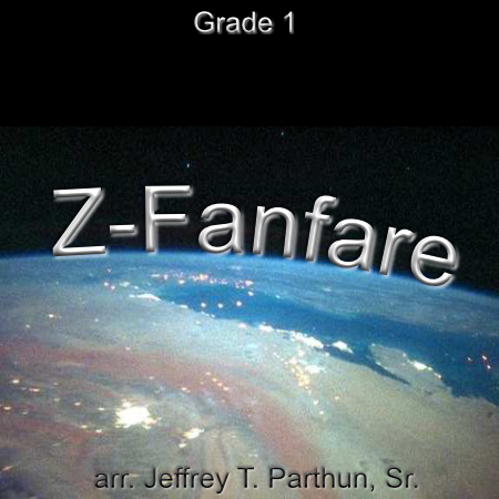 'Z-Fanfare' by Jeffrey Parthun. Grade 1 sheet music for school bands