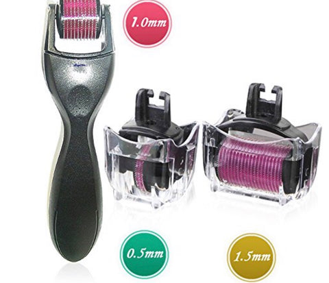 Three piece Derma Roller set .5 , 1.0 and 1.5 needle