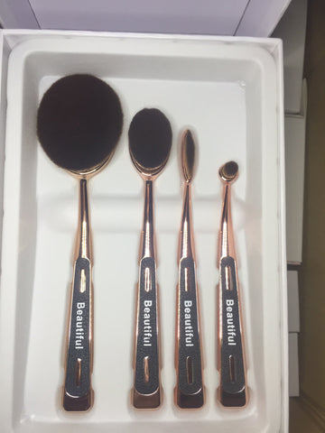 Professional Four piece oval brush set
