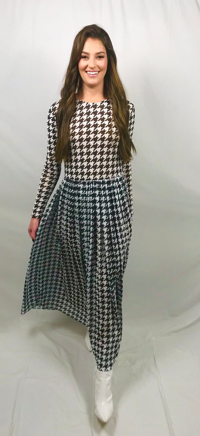 Houndstooth Jane Dress