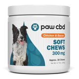 paw cbd/cbdMD Chicken & Bacon Soft Chews 300mg/30ct