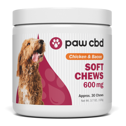 paw cbd/cbdMD Chicken & Bacon Soft Chews 600mg/30ct