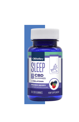 cbDistillery Broad Spectrum w/ Melatonin 30mg/30ct Gummies