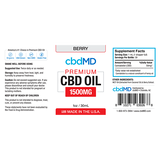 cbdMd Oil Tincture 1500mg/30ml Berry