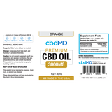 cbdMD Oil Tincture 3000mg/30ml Orange
