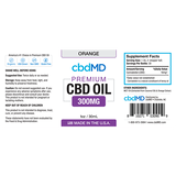 cbdMD Oil Tincture 300mg/30ml Orange