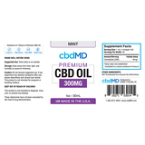 cbdMD Oil Tincture 300mg/30ml Mint