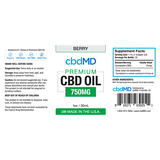 cbdMD Oil Tincture 750mg/30ml Berry