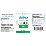 cbdMD Oil Tincture 750mg/30ml Mint