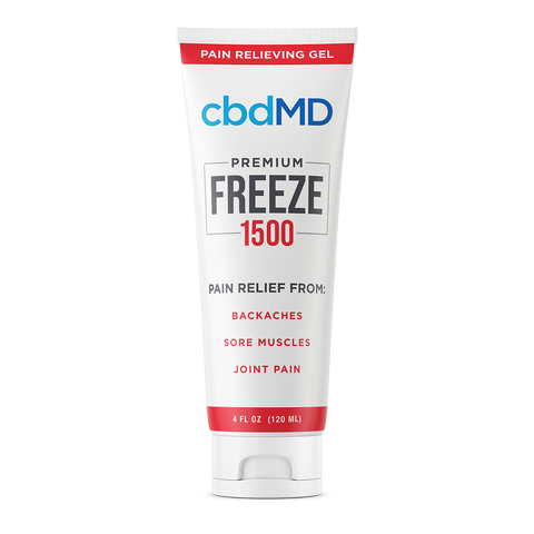 cbdMD CBD Freeze Pain Relief 1500mg/4oz Squeeze