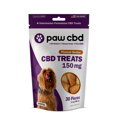 paw cbd/cbdMD CBD Dog Treats 150mg/30ct Peanut Butter Flavor