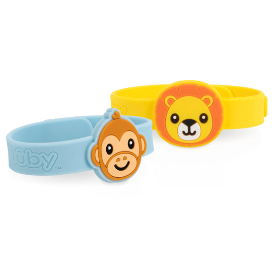 Nuby Mosquito Repellent Bracelets - Lion & Monkey 2 pack Assortment 1
