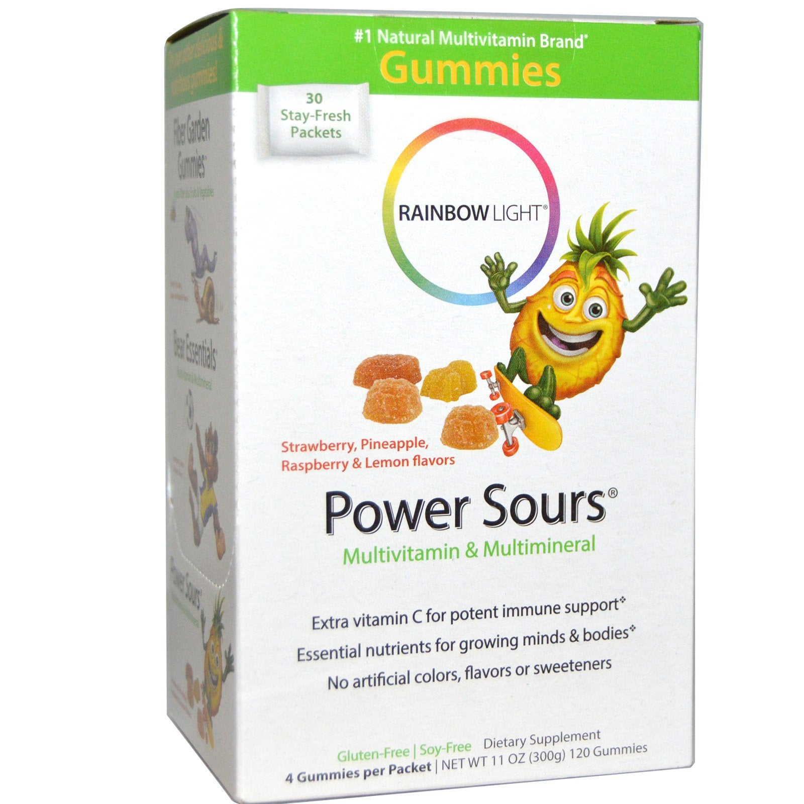 Rainbow Light Gummy Power Sour Multivitamin & Mineral, 30 pkts.-NaturesWisdom