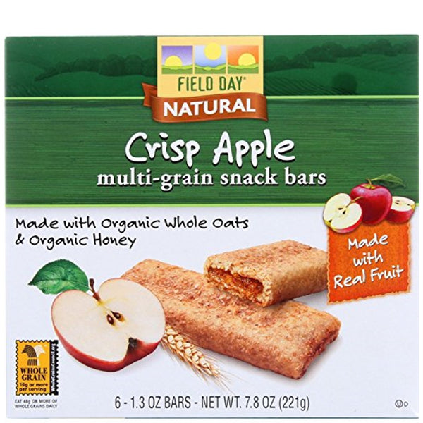 Field Day Multi-grain Cereal Bars (At least 70% Organic) - Crisp Apple, 221g.