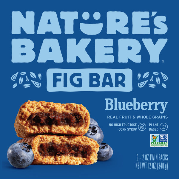 Nature's Bakery Blueberry Fig Bar (Whole Wheat), 6 x 57g.