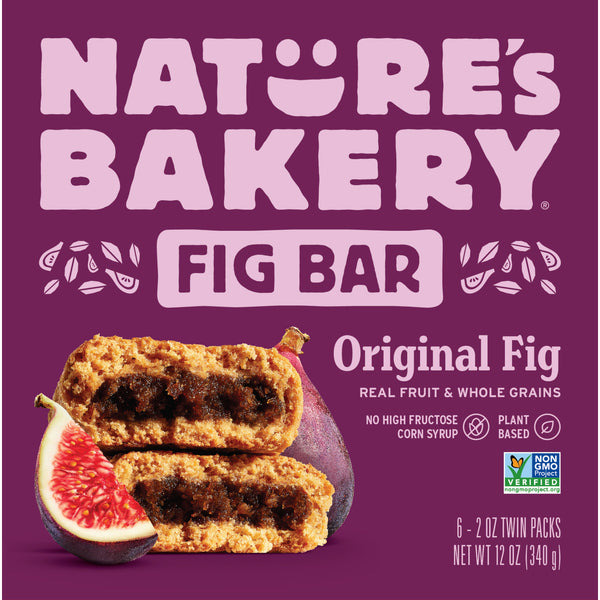 Nature's Bakery Original Fig Bar (Whole Wheat), 6 x 57g.